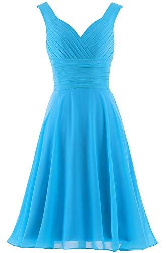S Gowntoffany Turquoise Torquise Sleeves Turquiose Bridal Turcoise Bkue Terquoise V Tiffant Neck Dresa Turqoise Bluedress Long Bridemaid Size Large ()