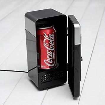 schwarz Rosilesi Mini-USB-K/ühlschrank LED Mini-USB-K/ühlschrank USB-K/ühlschrank Getr/änke Getr/änkedosen K/ühlschrank und Heizung