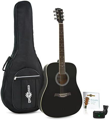 Guitarra Acustica Dreadnought de Gear4music + Paquete de ...