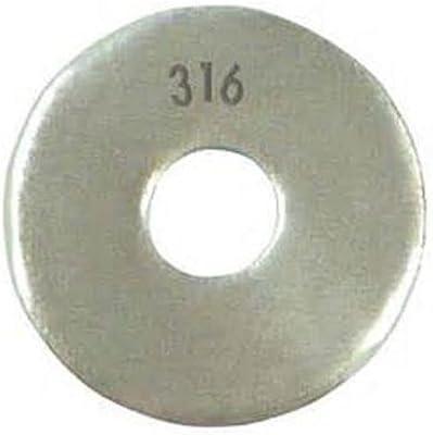 60 mm Inside Height T316 Stainless U-Bolt M6 x25mm Thread 34 mm Inside Diam