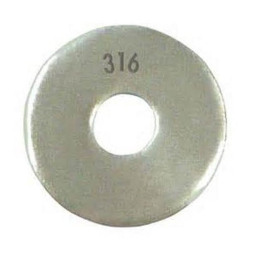 316 Stainless Steel Flat Washer 17//32 ID Plain Finish 0.065 Nominal Thickness Pack of 10 11//2 OD 1//2 Hole Size