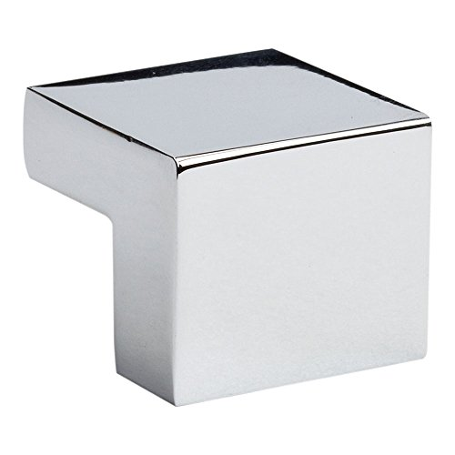 Atlas Homewares A865-CH Successi Collection .98-Inch Small Square Knob, Polished (Small Chrome Drawer Pull)