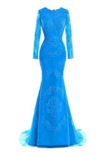 Blue M Maniche Bridal Donna Lunghe Vestito xxPwTOqU