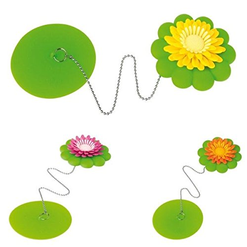 Tappo per vasca da bagno a ventosa Flower Power di Vigar colori assortiti