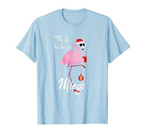 Merry Christmas Fa la la... Mingo SHIRT Flamingo Santa