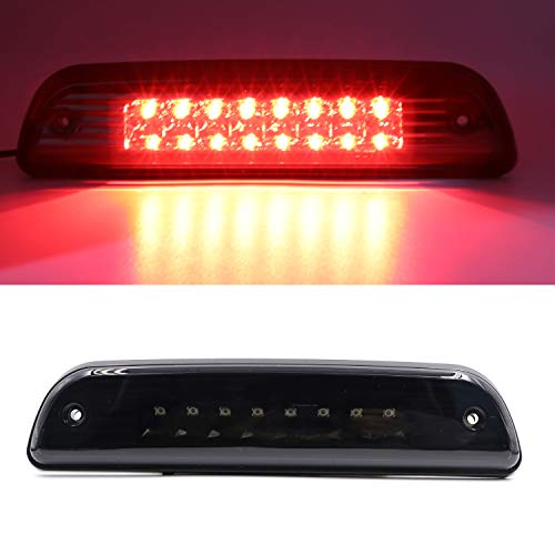 High Mount Brake Light LED 3rd Third Stop Light Replacement for 1995-2015 Toyota Tacoma (Black)