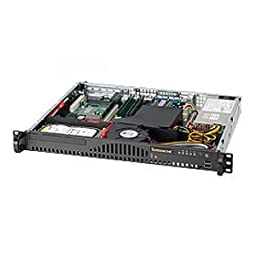 SUPERMICRO SC512-260B Chassis 1U - Rack-mountable - 2 Bays - 260W - Black / CSE-512-260B /
