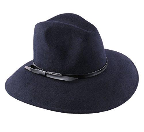 1da94de3608 Modissima Women s Lady Traveller Wool Felt Floppy Hat Size 58 Cm Blue-marine