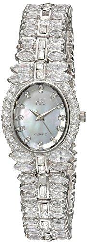 Adee Kaye Women's Quartz Brass Dress Watch, Color:Silver-Toned (Model: ()