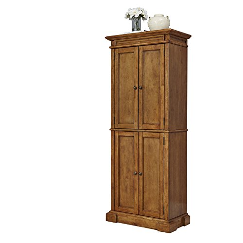 Home Styles 5004-69 Americana Pantry Storage Cabinet, Distressed Oak (Large Oak Veneer)