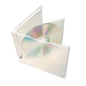 Amazon.com: (100) STANDARD Clear Double CD Jewel Case - CD2R10CL ...