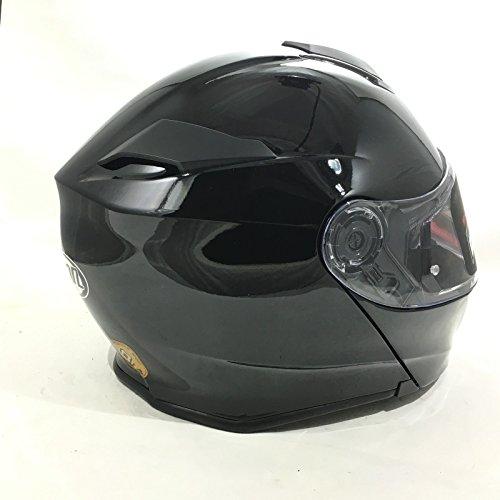VCAN V271 BLINC BLUETOOTH FLIP FRONT HELMET New Motorbike MP3 SAT NAV FM Intercom Modular Helmet Gloss Black With CARE KIT /& BALACLAVA