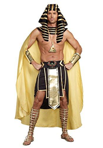 Dreamgirl Men's King of Egypt King Tut Costume, Black/Gold, XX-Large