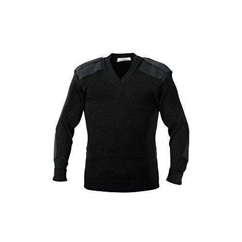 5x Acrylic V Neck Sweater - Black