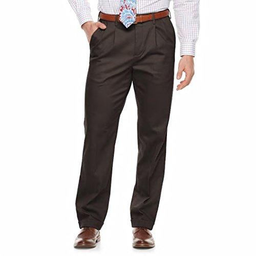 Croft & Barrow Men's Classic-Fit No-Iron Performance Khaki Pleated Casual Pants (Combat Gray, W34 x -