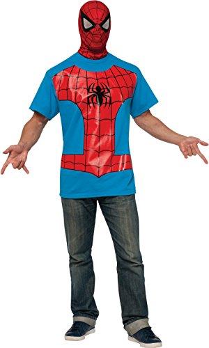 Rubie's Costume Men's Marvel Universe Spider-man Adult Costume T-shirt and Eye Mask, Multi, Medium