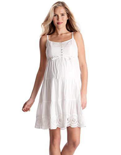 Seraphine Elizabeth Cotton Lace Maternity Dress - White - 8 by Seraphine