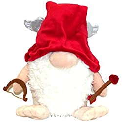 Aurora The Gnomlins Valentine's Day Garden Gnome Plush Doll, 13.5 X 9 inches