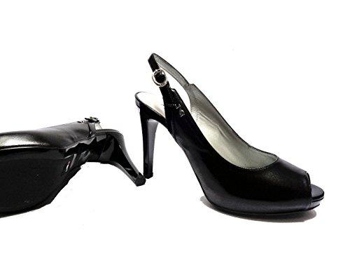 Donna Nero Giardini 15383d sandali da in pelle tacco cm.plateau cm. num.