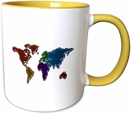 3dRose 240737/_8 Image Of Our World In Jello Like Texture Mug 11 oz