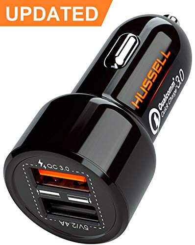 2019 HUSSELL 5.4A 30W Dual USB Car Charger Adapter - Quick Charge 3.0 3A + Smart IC 2.4A - Compatible with iPhone Xs X 8 7 6 Plus Max Samsung Galaxy S10 S9 S8 S7 etc - Fast Chargers - Car Accessories