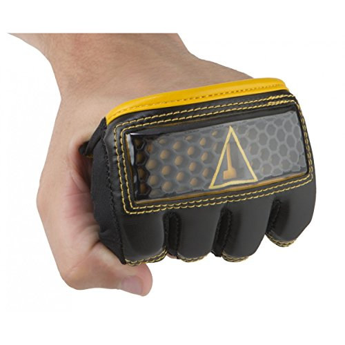 Title Boxing Hexicomb Tech Knuckle Guards, Black/Yellow, Large (Best Knuckle Guards For Boxing)