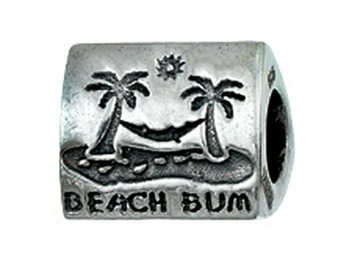 Zable Sterling Silver Beach Bum Pandora Compatible Bead/Charm (Zable Bead)