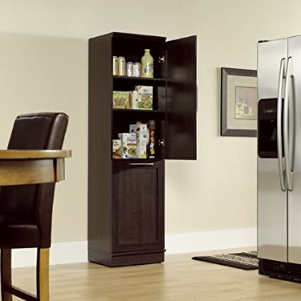 Narrow Storage Cabinet W/ Recycle Bin / Trash Can Holder /or Laundry Hamper