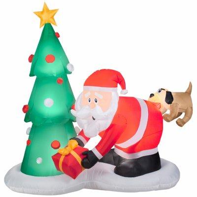Gemmy Industries 35137 Airblown Christmas Decoration, Santa & Dog, 81-In. - - Amazon.com: Gemmy Industries 35137 Airblown Christmas Decoration