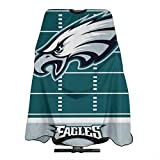 Gdcover Philadelphia Eagles Professional Waterproof Hair Salon Nylon Cape with Snap Closure for HairCutting - 55' x 66'