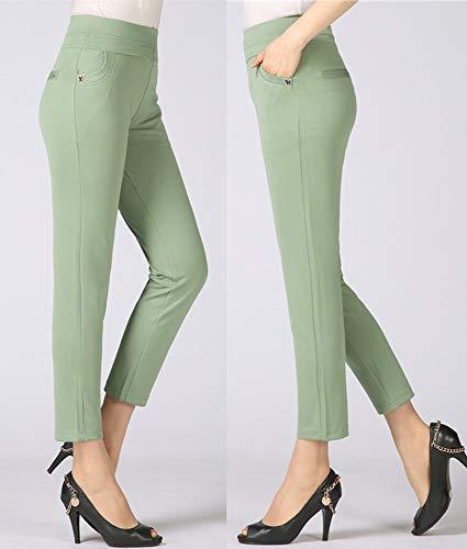 Cropped YIHIGH Pantaloni Pantaloni Donna Taglie Vita Alta Casual 2 Stile Forti 8n8gxqr6w