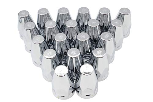 - Lug Nut Covers 33mm Chrome Screw On ABS Plastic Peterbilt Kenworth Truck Trailer - 20 Count Pack