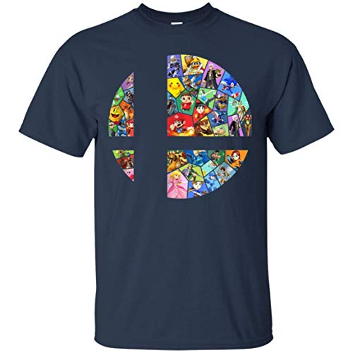 TopTeam Super Smash bros t-Shirt Inspired Funny Gifts Navy