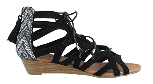 New Black Merida Women's Minnetonka III Sandal 8 7dqgWwCW