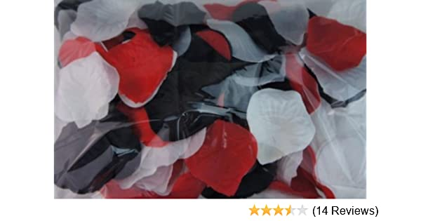 0fffc952add7 Amazon.com: 300pc Mixed Color Rose Petals Black, Red, White Wedding Table  Decoration: Home & Kitchen