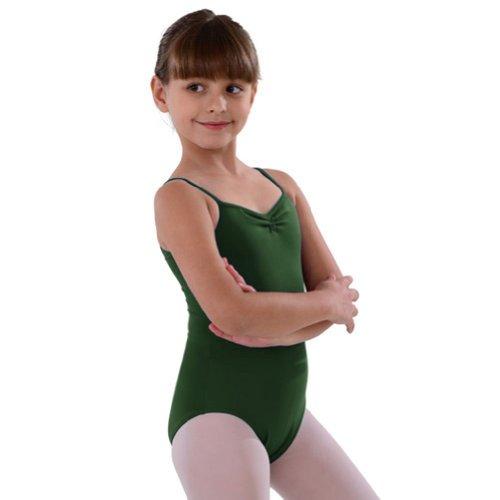 So Danca Tropic Green Pinched Neckline Dance Leotard Little Girls 4-6X - Pinched Neckline Dance Leotard