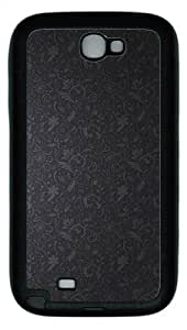 Samsung Galaxy Note II N7100 Case,Swirly Wall Pattern Abstract TPU Custom Samsung Galaxy Note II N7100 Case Cover Black