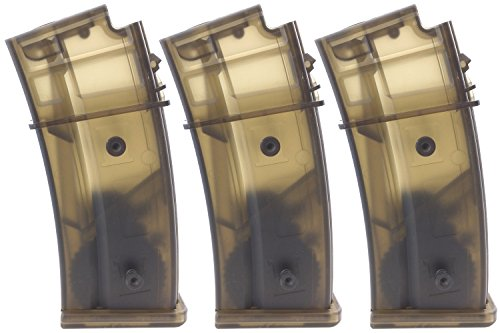SportPro CYMA 470 Round Polymer High Capacity Magazine for AEG G36 3 Pack Airsoft - Transparent ()