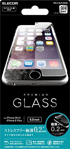医療過誤包帯レクリエーションELECOM iPhone 6s Plus/6 Plus 液晶保護ガラスフィルム [3D touch 最高硬度9H 極薄0.2mm ラウンドエッジ加工 飛散防止設計] PM-A15LFLGG02