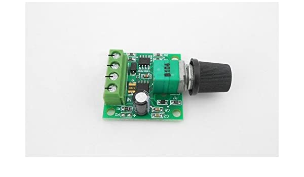 6V 12V 24V 2A DC Mini Motor Speed Controller Small Motor Speed Power Board
