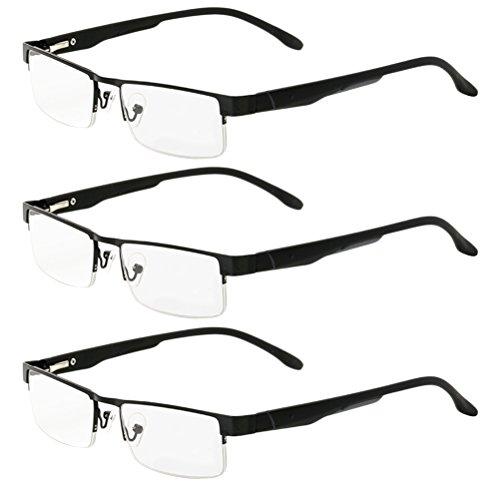 (Zhhlinyuan 3pcs Men Women Reading Glasses Eyewear Readers Choose Your)