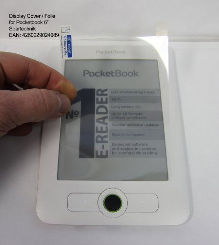 Display cover for Pocketbook 611 612 602 603 Pocketbook Touch & basic new: Display Cover - Screen Protector for Display 11,8 x 8,7 - 6