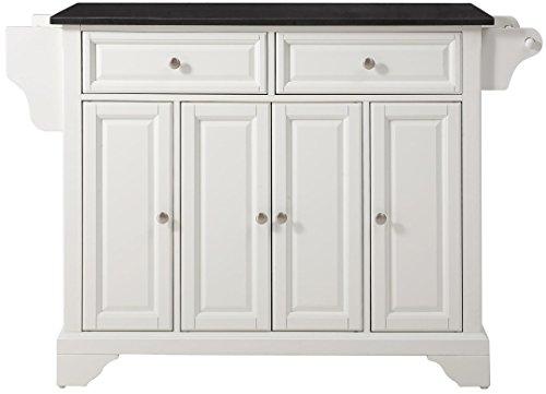 Crosley Furniture LaFayette Kitchen Island with Solid Black Granite Top - (Large Black Granite Top)