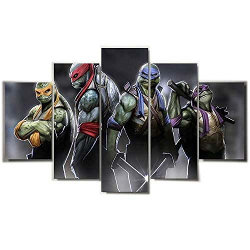 ZZXINK 5pcs unFramed Printed cartoon Teenage Mutant Ninja Turtles Painting room decor print film poster canvas -