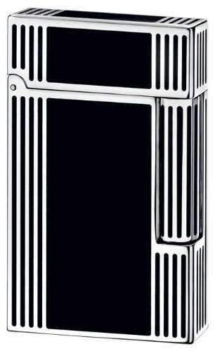 S.T. Dupont Ligne 2 Lighter - Windsor Palladium & Black Chinese Lacquer 16727 Black Chinese Lacquer Lighter