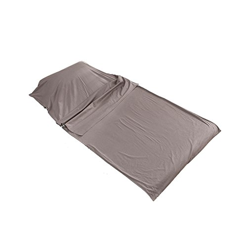 Outry Travel and Camping Sheet, Sleeping Bag Liner/Inner, Lightweight Summer Sleeping Bag - Gray (Material: 100% Cotton) - L£º71 x82.7/180cmx210cm