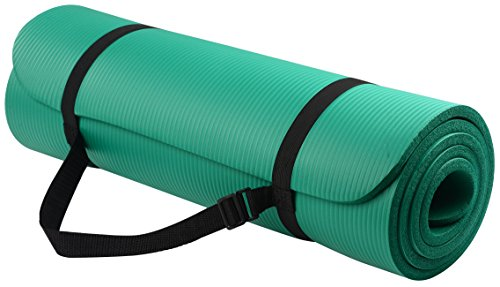 BalanceFrom Go Yoga All Purpose Anti-Tear Exercise Yoga Mat with Carrying Strap, Green (Manduka Pro Black Yoga Mat)