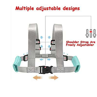 Anti Lost Wrist Link Safety Wrist Link for Toddlers, Safety Harness for Kids, Baby Harness for Walking?Babies & Kids(Mint Blue)