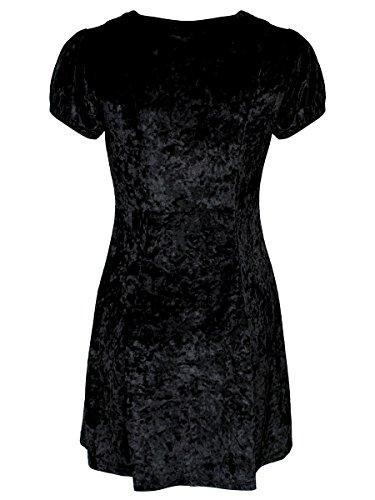 Vestido Manga Jawbreaker Para Skater Negro Corta Mujer x71S1