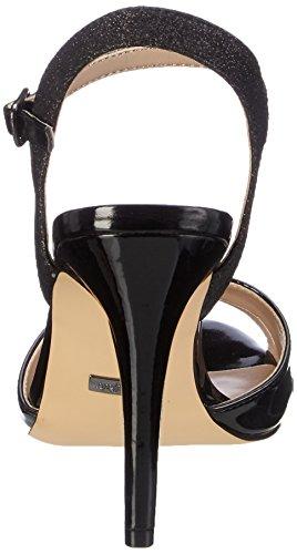 Buffalo Dames 15s90-5 Glitter Metallic Pu Enkelband Black (zwarte 01)